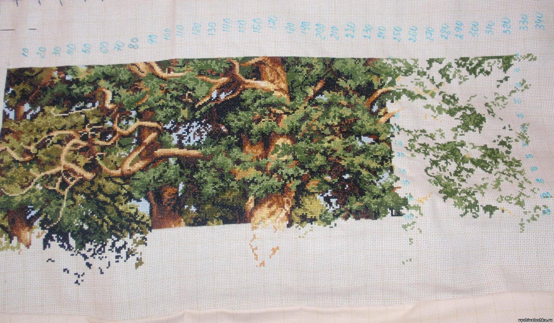 Вышивка Дубовая роща Скачать схему бесплатно 19